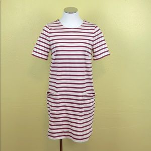 Marc Jacobs red and tan striped T-shirt dress